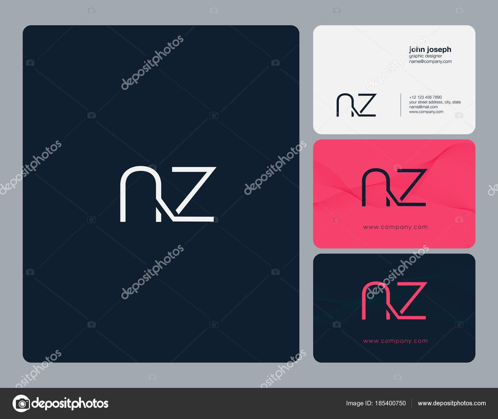 Letters logo business cards template vector stock vector nz letters logo business cards template vector vector by ajayandzyngmail reheart Images