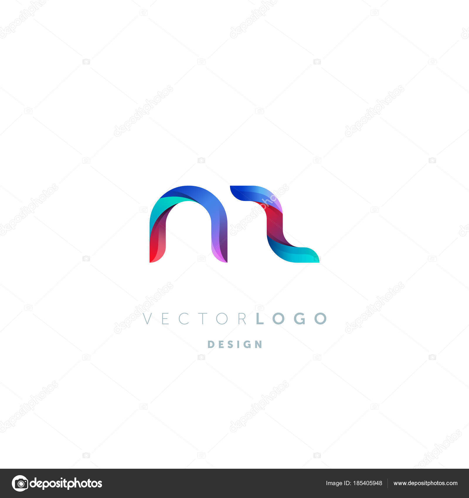 Gradient letters logo business card template vector stock vector gradient nz letters logo business card template vector vector by ajayandzyngmail reheart Gallery