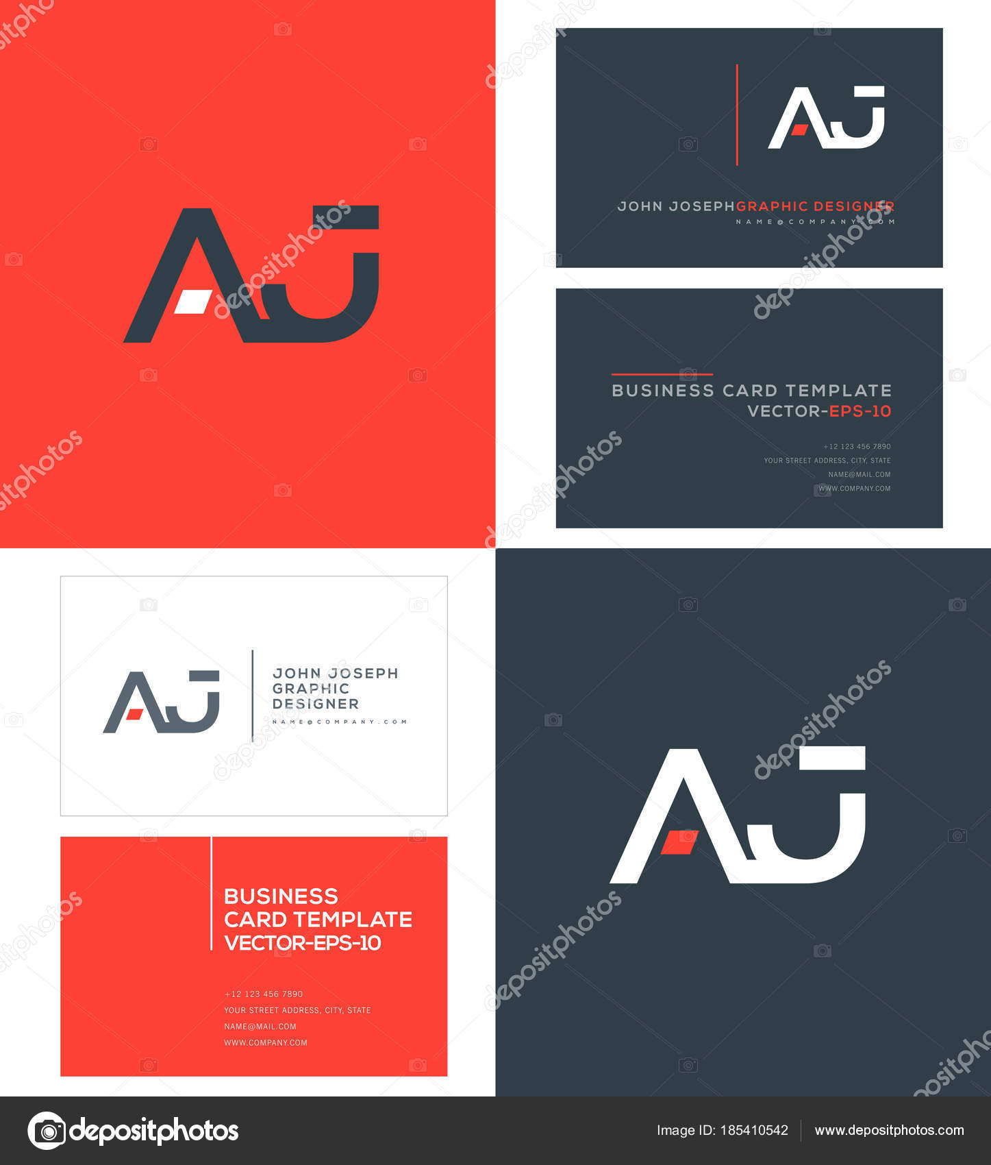 Logo joint business card template vector stock vector ajayandzyn logo joint business card template vector stock vector reheart Gallery