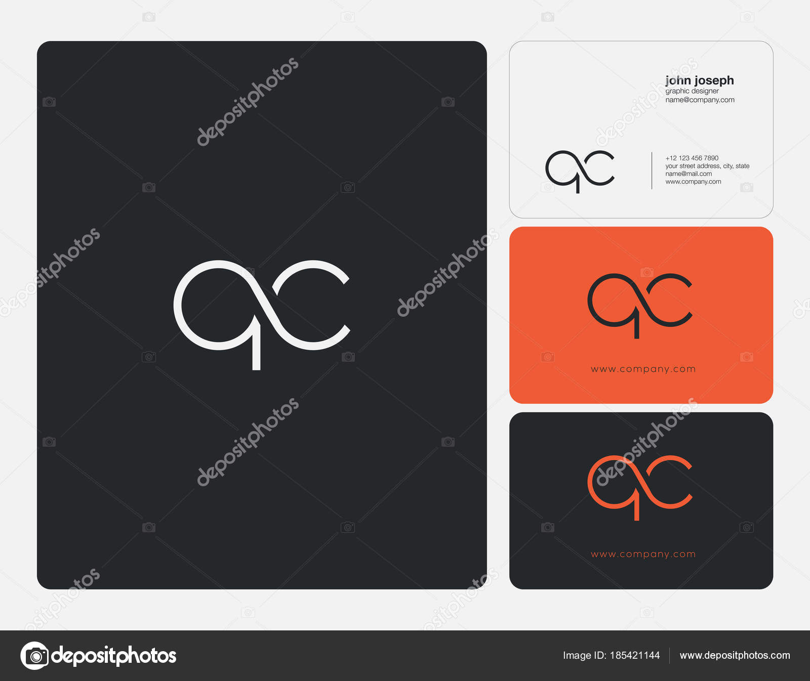 Letters Logo Business Cards Template Vector — Stock Vector ...