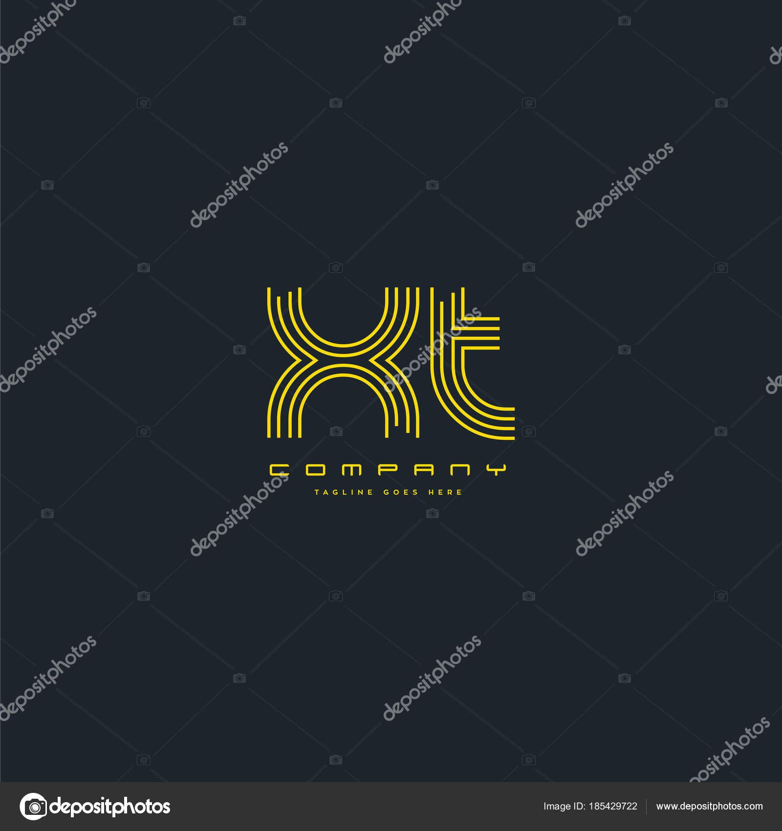 Línea Vector Letras Logo Plantilla Tarjeta Visita — Vector de ...