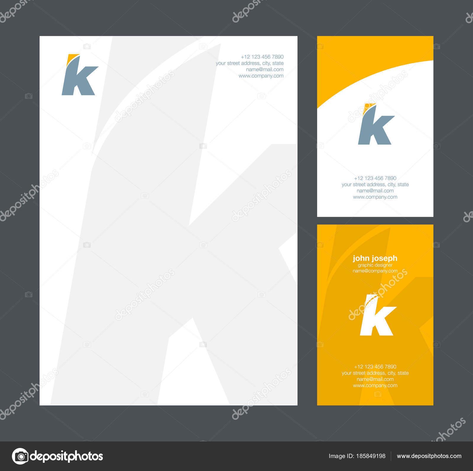 Vecteur Logo Modle Carte Visite Lettre Image Vectorielle