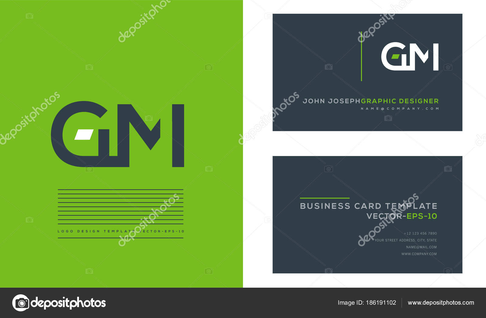 Letters logo business cards template vector stock vector gm letters logo business cards template vector vector by ajayandzyngmail colourmoves