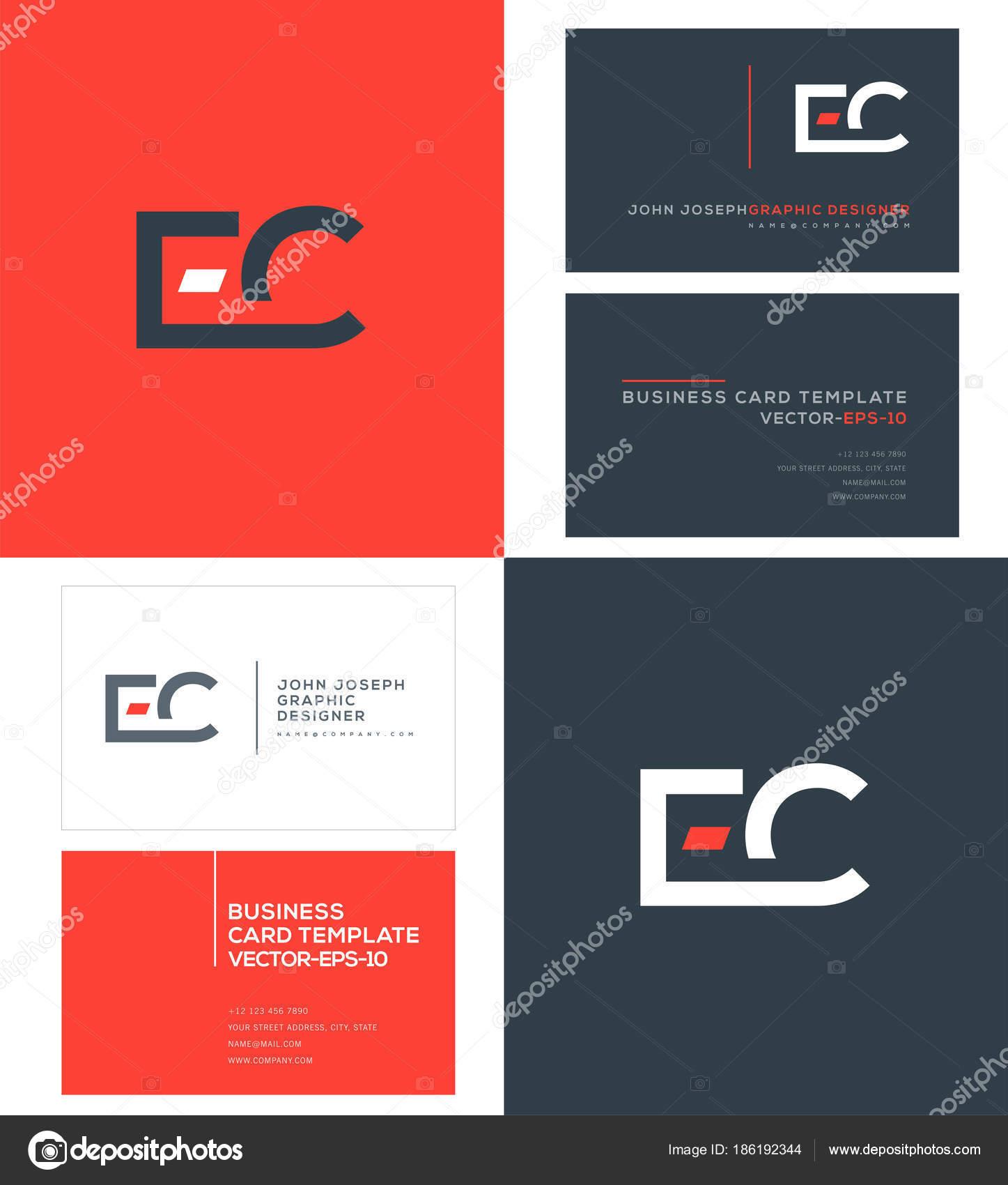 Letras Logo Plantillas Tarjetas Visita Vector — Vector de stock ...