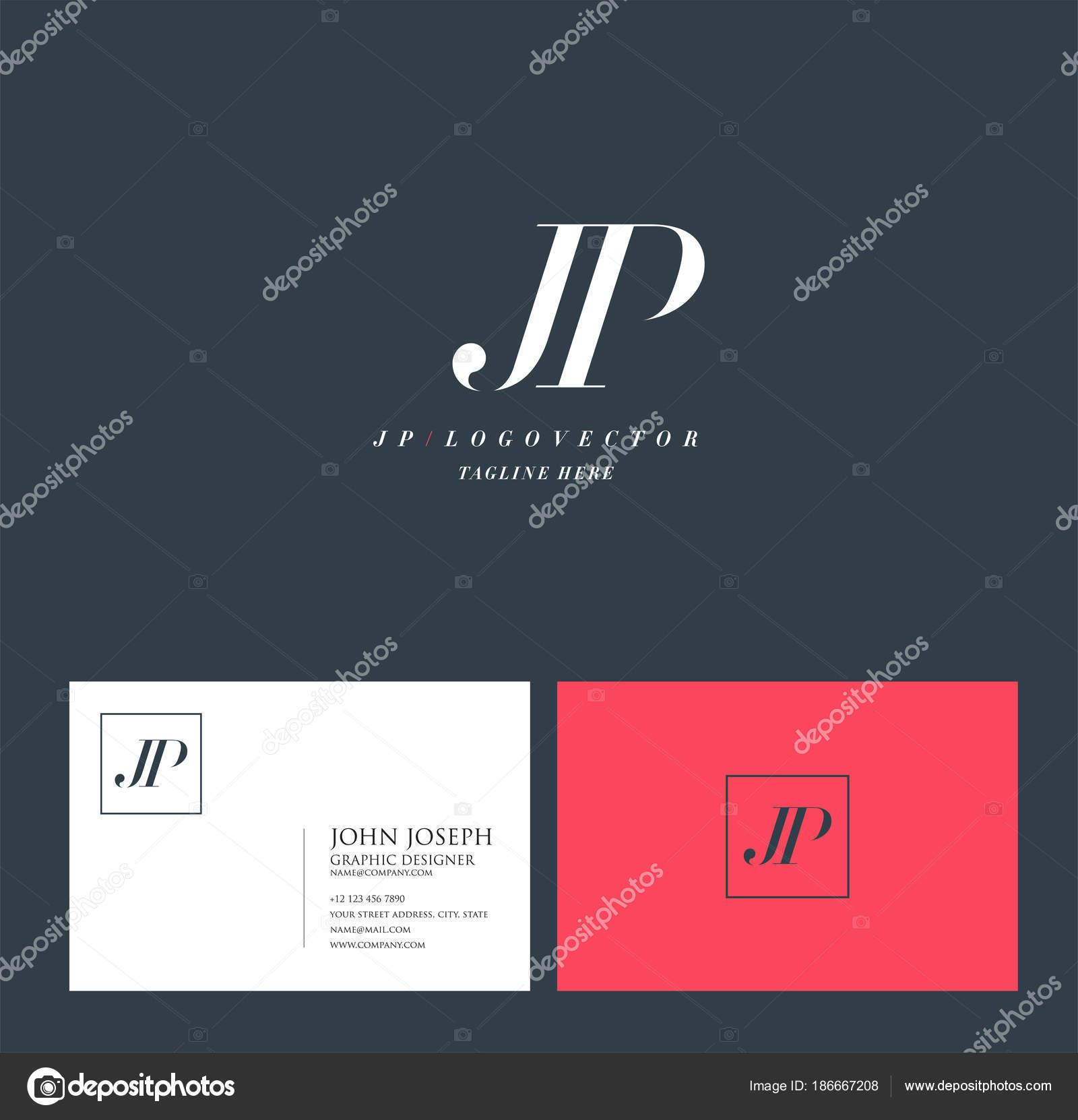 Articulation Jp Lettres Logo Modle De Carte Visite Vecteur Par Ajayandzyngmail