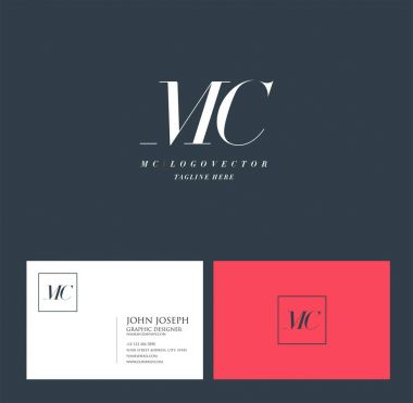 Joint Mc Letters Logo, Business Card Template, Vector