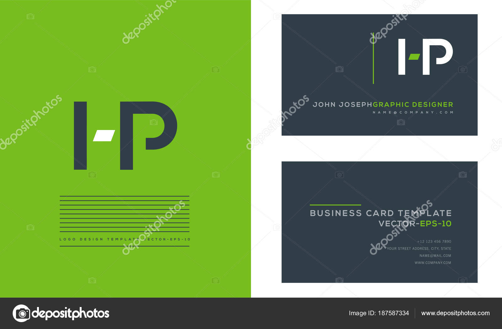 Joint letters logo business card template vector stock vector joint hp letters logo business card template vector vector by ajayandzyngmail reheart Images