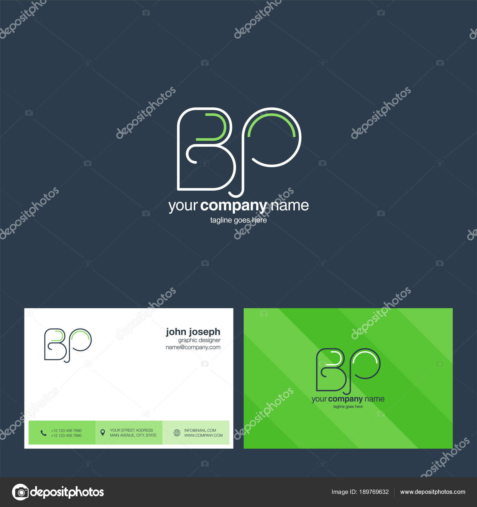 Logo Joint Business Card Template Vector — Stock Vector © ajayandzyn ...