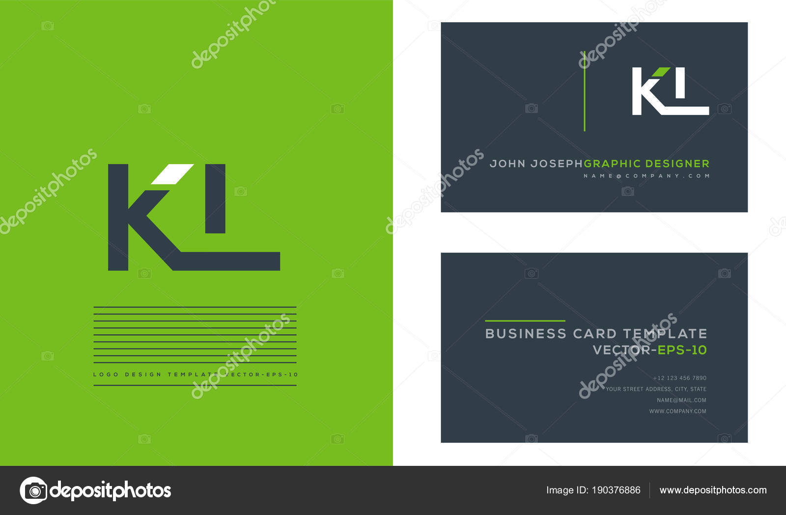 Logo joint business card template vector stock vector ajayandzyn logo joint kl for business card template vector vector by ajayandzyngmail reheart Choice Image