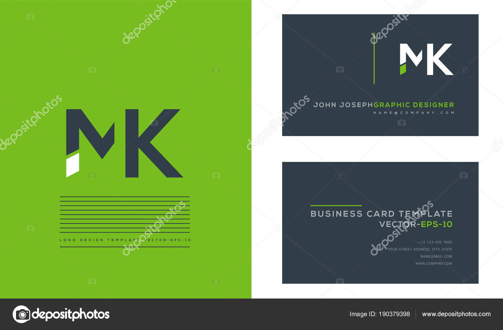 Logo Joint Business Card Template Vector Stock Vector Ajayandzyn - Business card template eps