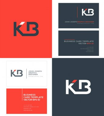 logo joint Kb for Business Card Template, Vector