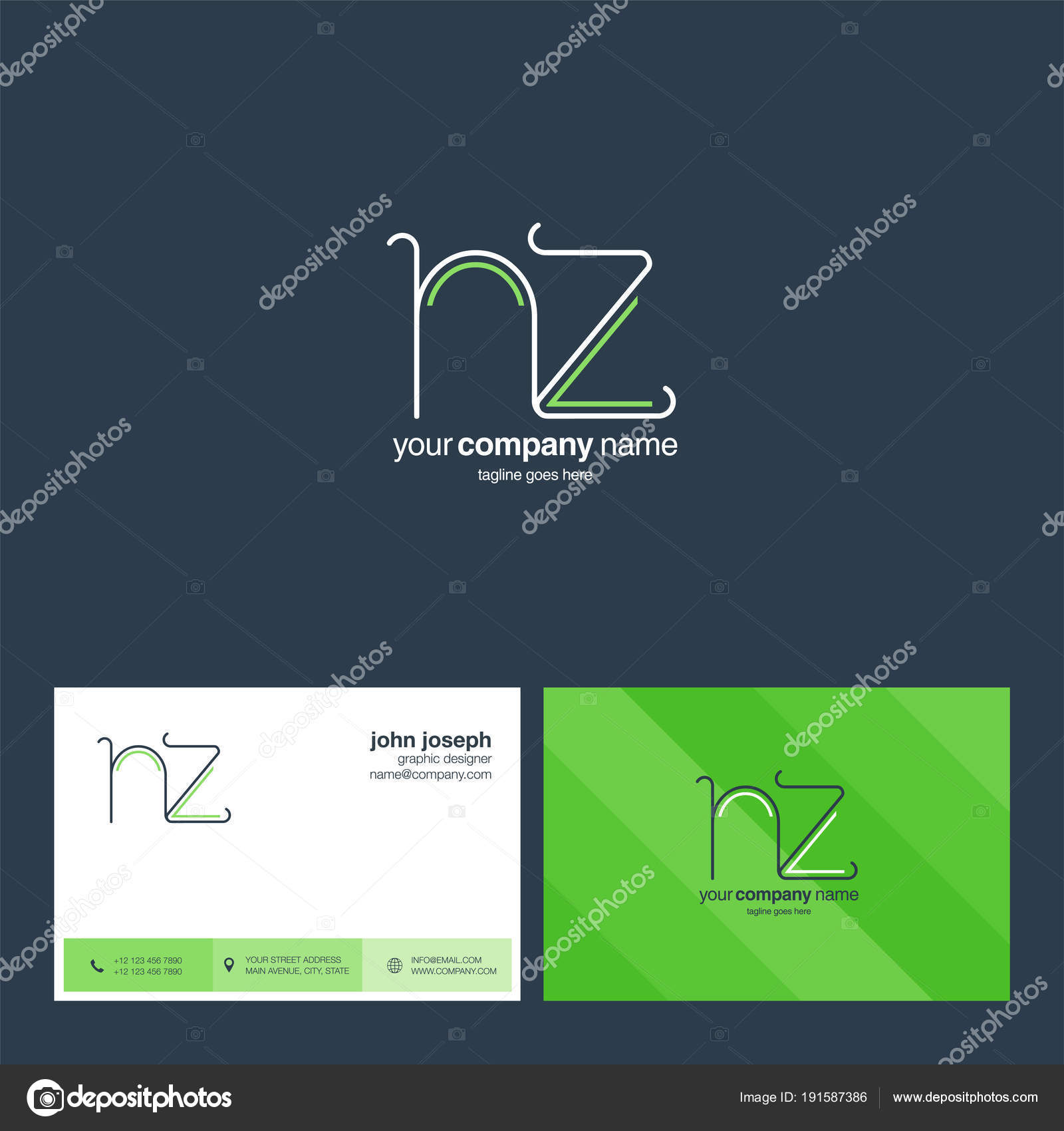 Logo joint business card template vector illustration stock vector logo joint nz for business card template vector illustration vector by ajayandzyngmail reheart Gallery