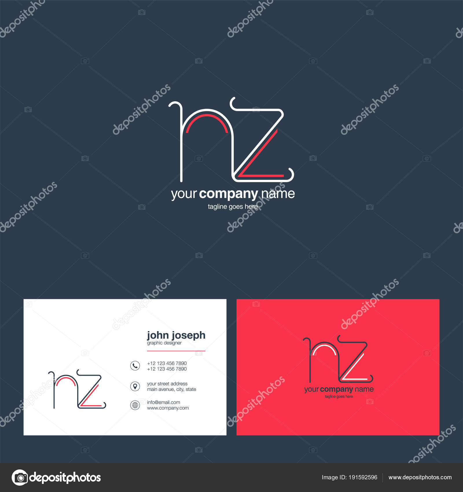 Logo joint business card template vector illustration stock vector logo joint nz for business card template vector illustration vector by ajayandzyngmail reheart Images