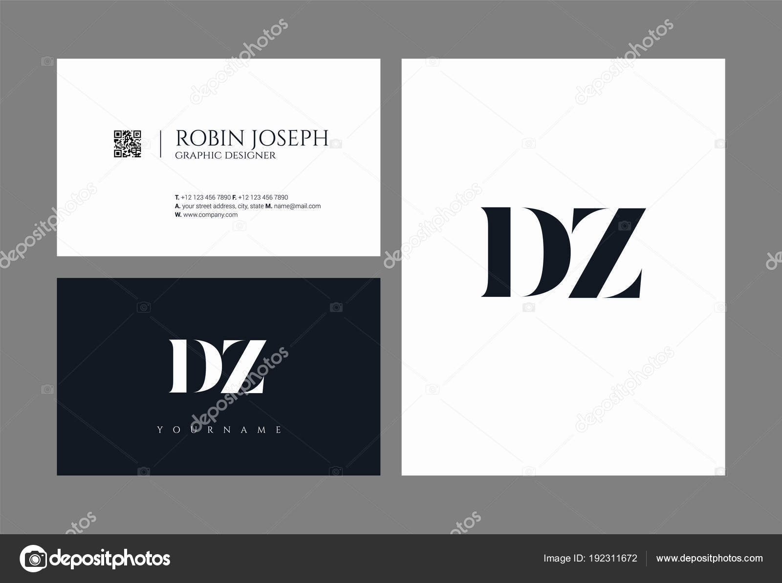 Line Logo Joint Business Card Template Vector Illustration — Stock ...