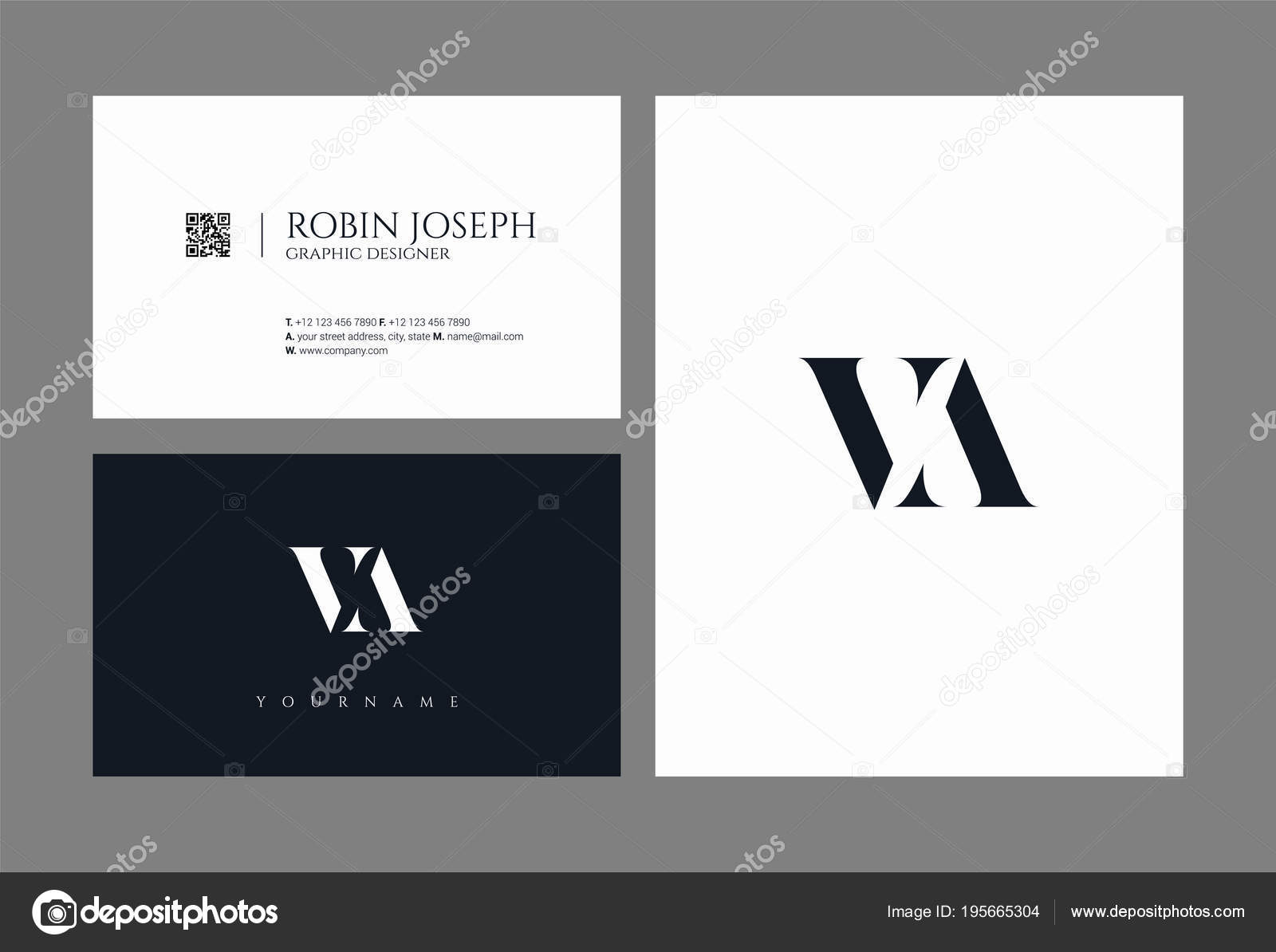 Letters logo template business card stock vector ajayandzyn letters logo va template for business card vector by ajayandzyngmail colourmoves