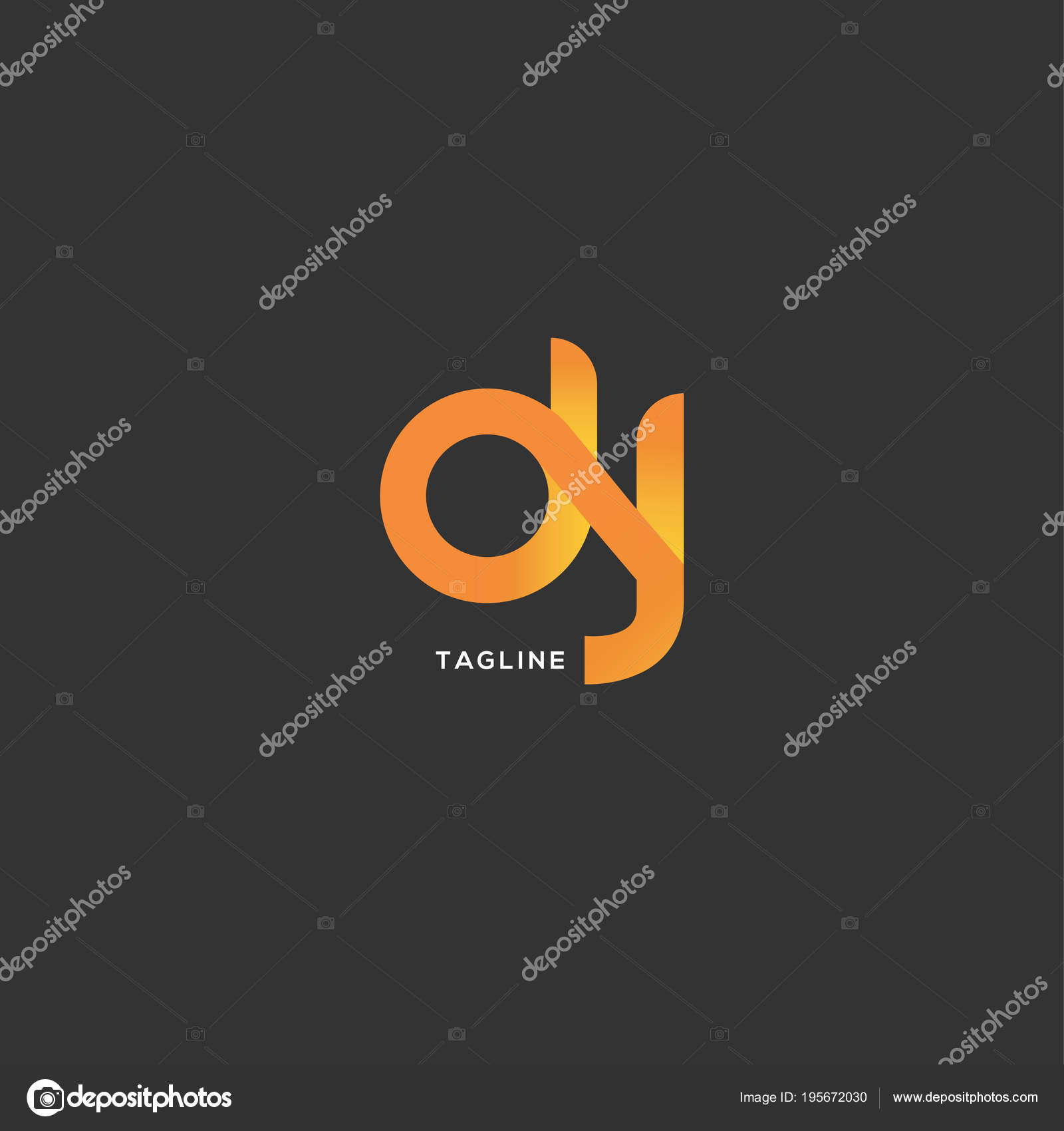 Lettres Logo Dj Modele Pour Carte De Visite Illustration Stock