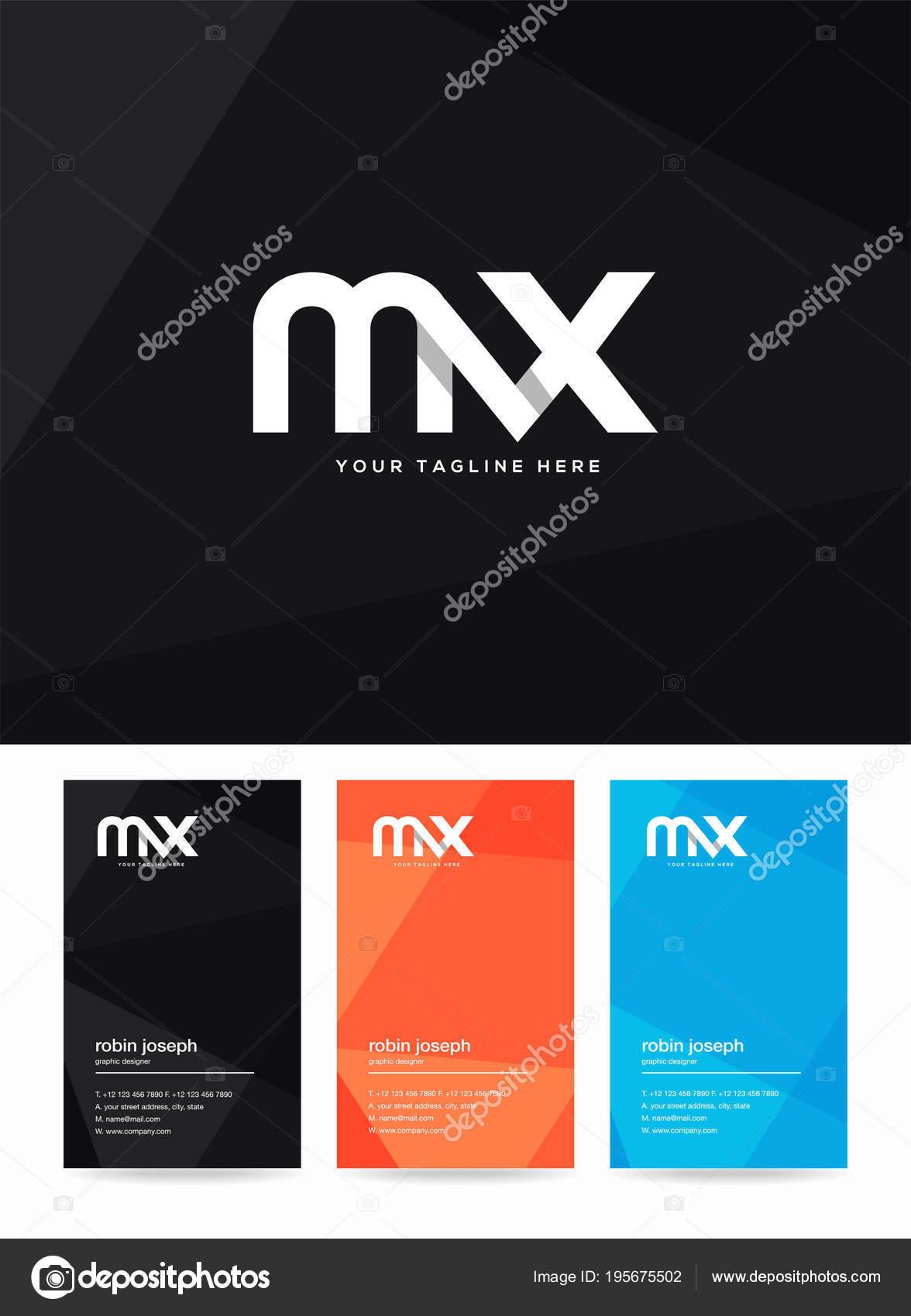 Letras logotipo modelo para carto visita vetores de stock letras de logotipo mx modelo para carto de visita vetor de ajayandzyngmail reheart Choice Image