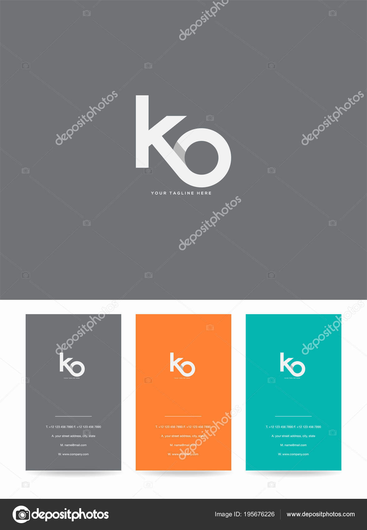 Letters Logo Template Business Card Stock Vector Ajayandzyn