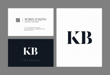 Letters logo Kb, template for business card
