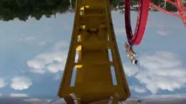roller coaster front view
