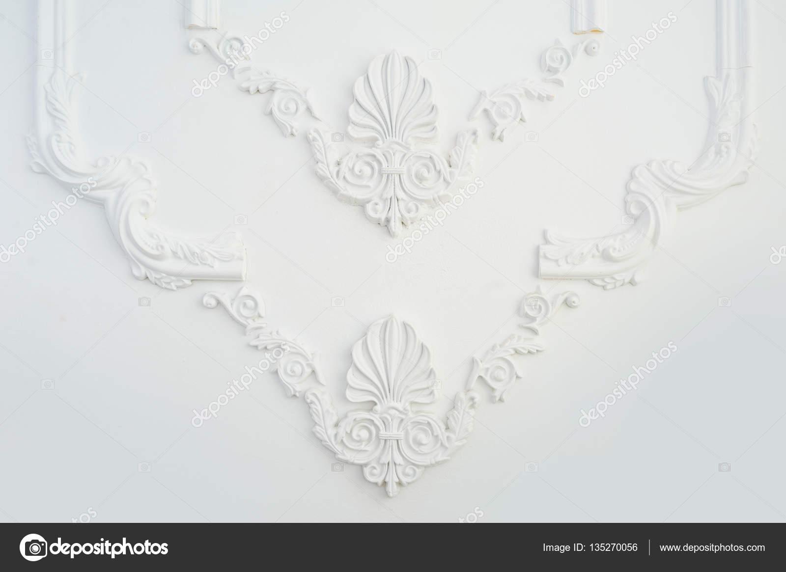 elemento de la moldura del marco arquitectónico en la pared — Foto ...