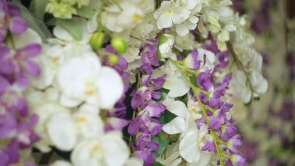 Beautiful decor of flowers for the wedding ceremony close-up