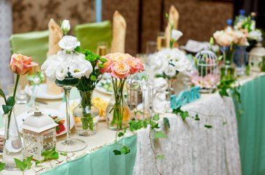 beautiful served table for a wedding dinner