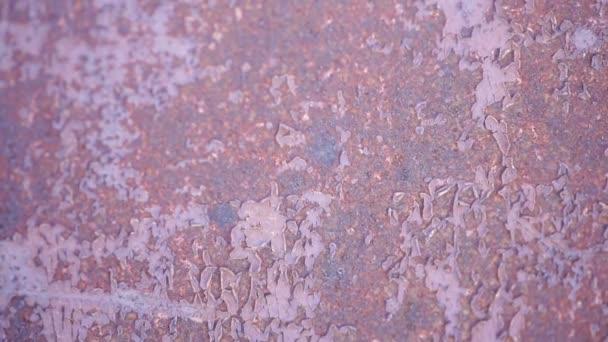 Metallic rusty texture with shabby paint