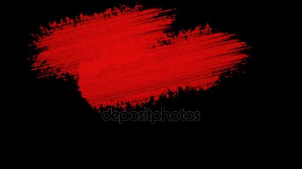 Malování pozadí červené Grunge štětce pro tituly nebo jiného textu s alfa kanálem. Akvarelu umění Retro Vintage abstraktní pozadí. Ručně tažené textury