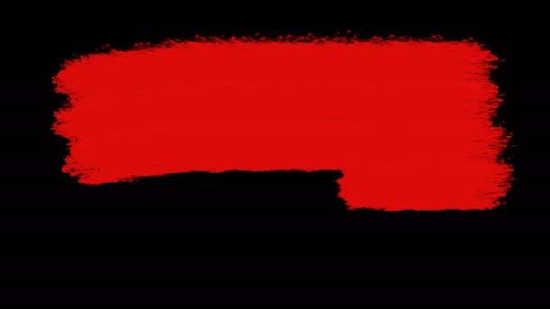 napsal černý pátek kaligrafie animace černý text na pozadí červené abstraktní colorwater. Ručně kreslené písmo s alfa kanálem