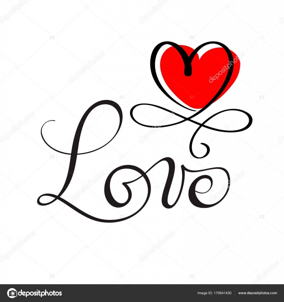 Amore originale scritta a mano su ordinazione calligrafia for Disegni da copiare a mano facili