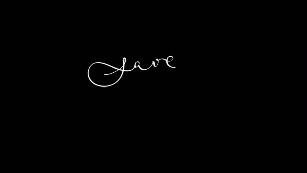 Scritti calligrafia Save the Date animazione lettering testo con elementi frame ornato. Decorazione depoca e filigrana. Matrimonio di divisore filigrana invito. Canale alfa