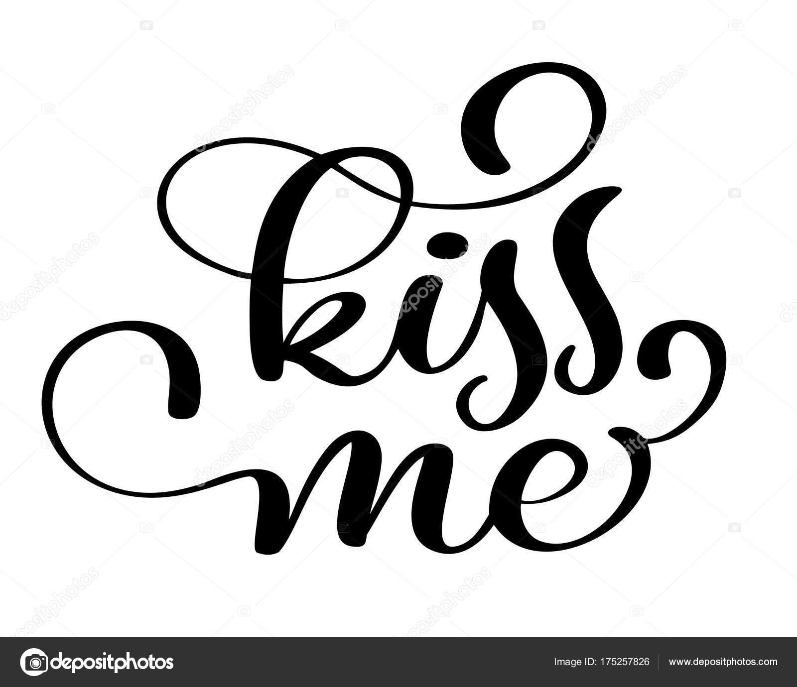 Pocałuj Mnie Czarno Białe Strony Napis Napis Zaproszenie Na ślub Lub