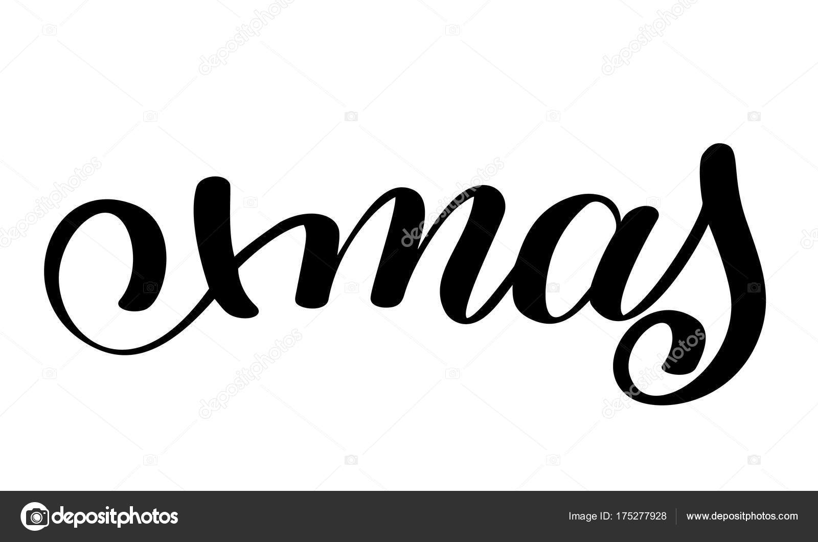 Xmas calligraphy lettering word christmas and new year holidays