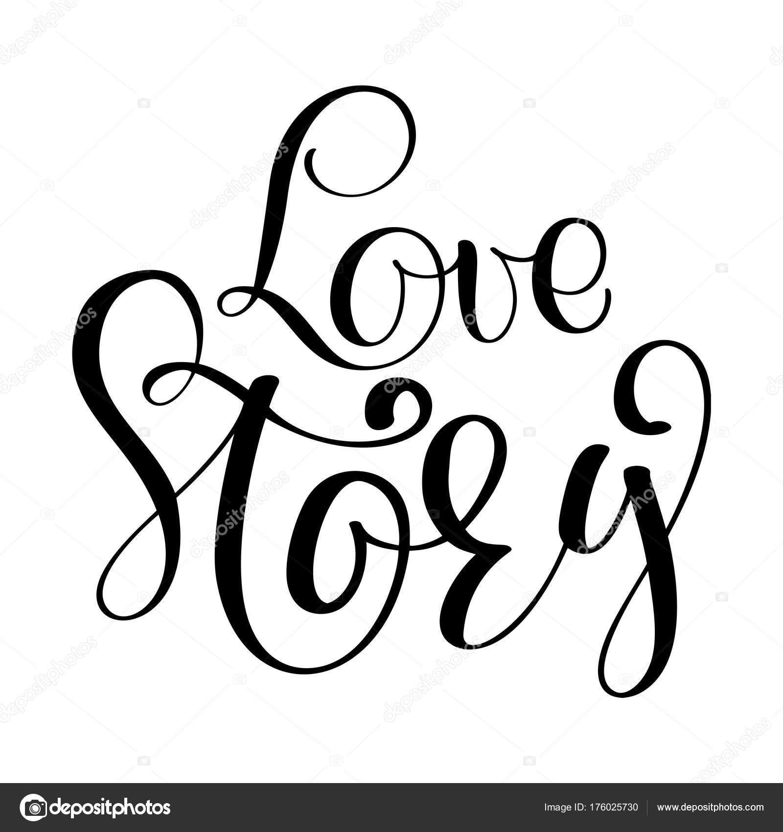 Vektor Inspirierende Hochzeit Zitat. Hand, Schriftzüge, Typografisches  Element Für