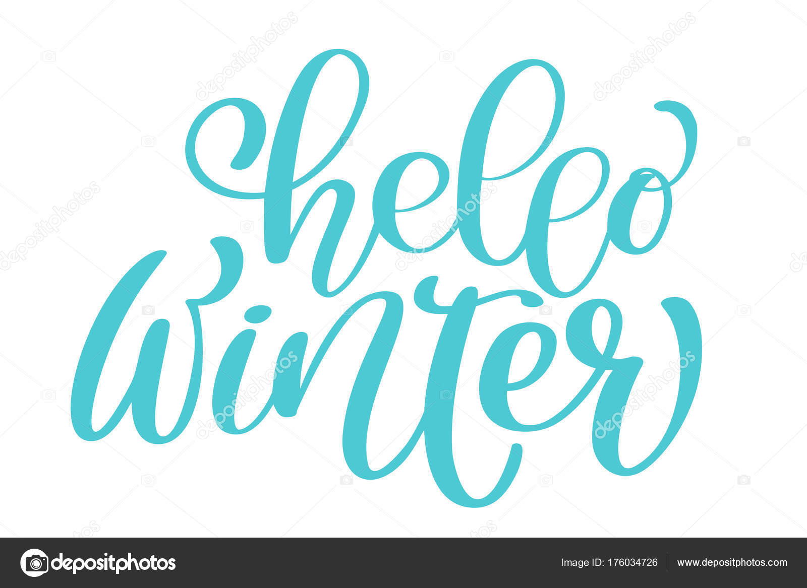 Calligraphy hello winter merry christmas card with template for calligraphy hello winter merry christmas card with template for greetings congratulations housewarming posters kristyandbryce Image collections