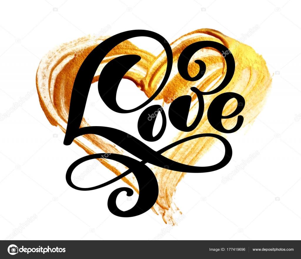 Handschriftliche Inschrift Liebe Auf Einem Hintergrund Von