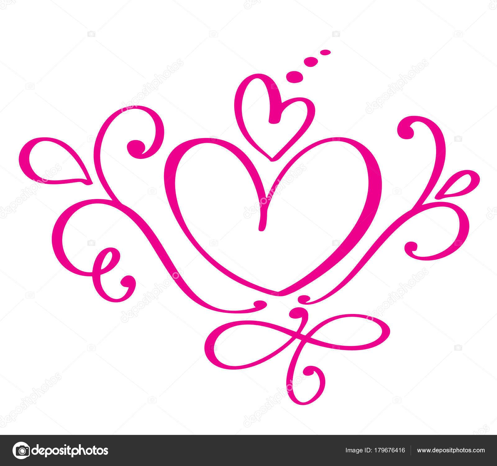esküvői rajzolt képek Vektoros virágzik kalligráfia vintage szívek Valentin nap. Kézzel  esküvői rajzolt képek