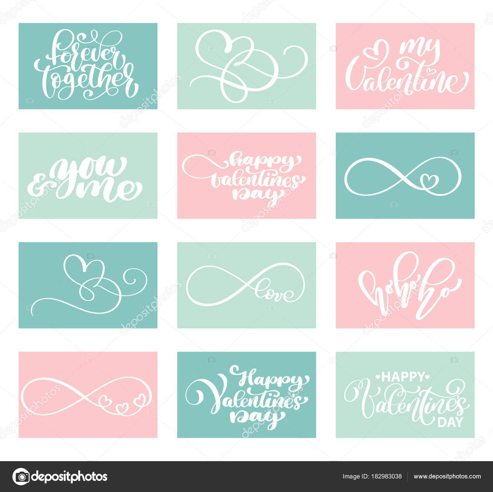 plantillas de tarjetas de sistema amor Vector día de San Valentín ...