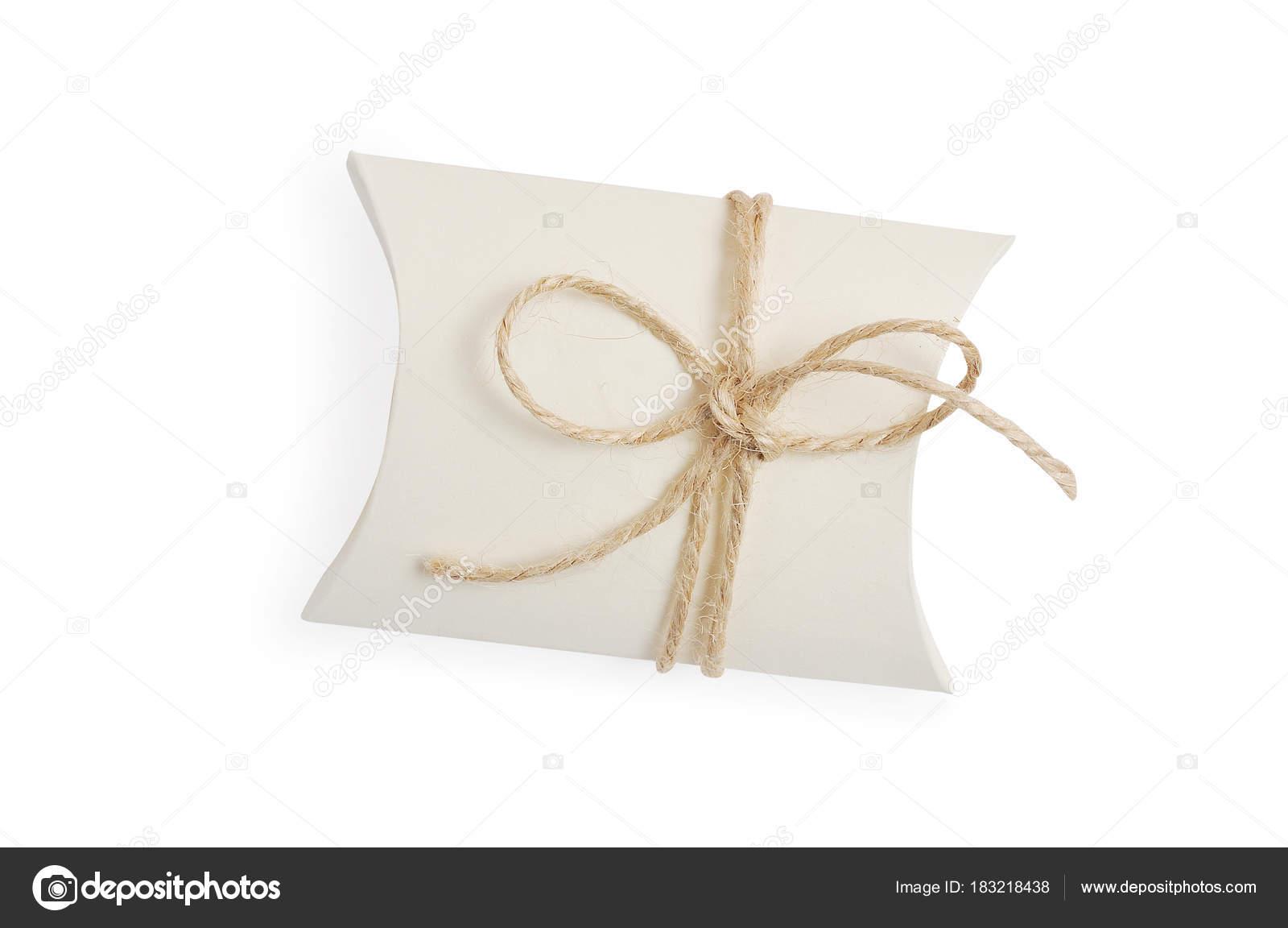 Bonbonniere Vintage Geschenkbox Mit Seil Bandbogen Isolierte