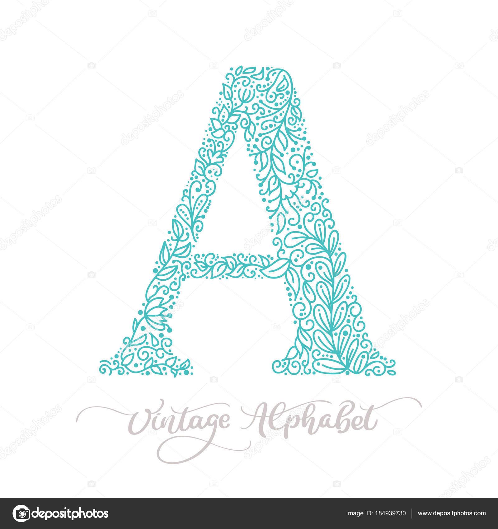 Mano dibuja una plantilla de diseño de logo vintage de caligrafía de ...