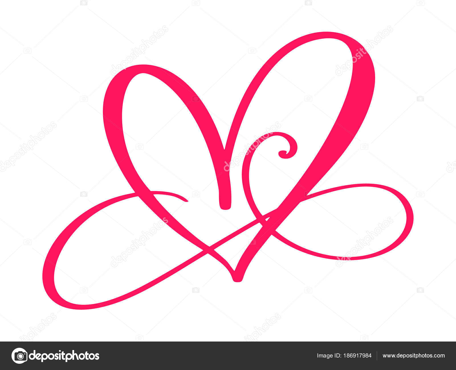 and depositphotos romantic forever illustration sign symbol wedding love passion join linked infinity heart stock