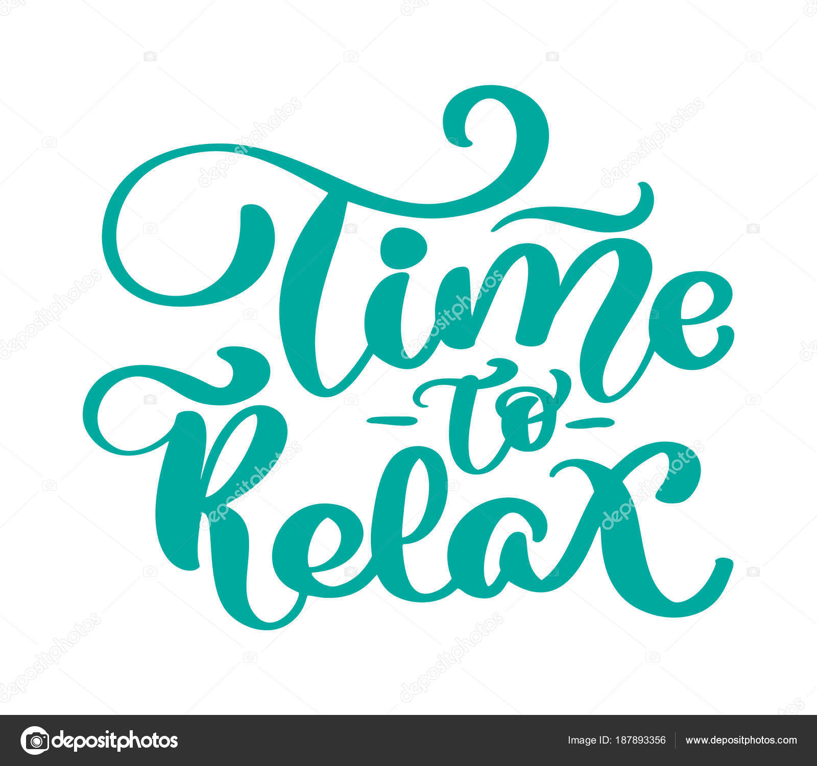 vector vintage text time to relax hand drawn lettering