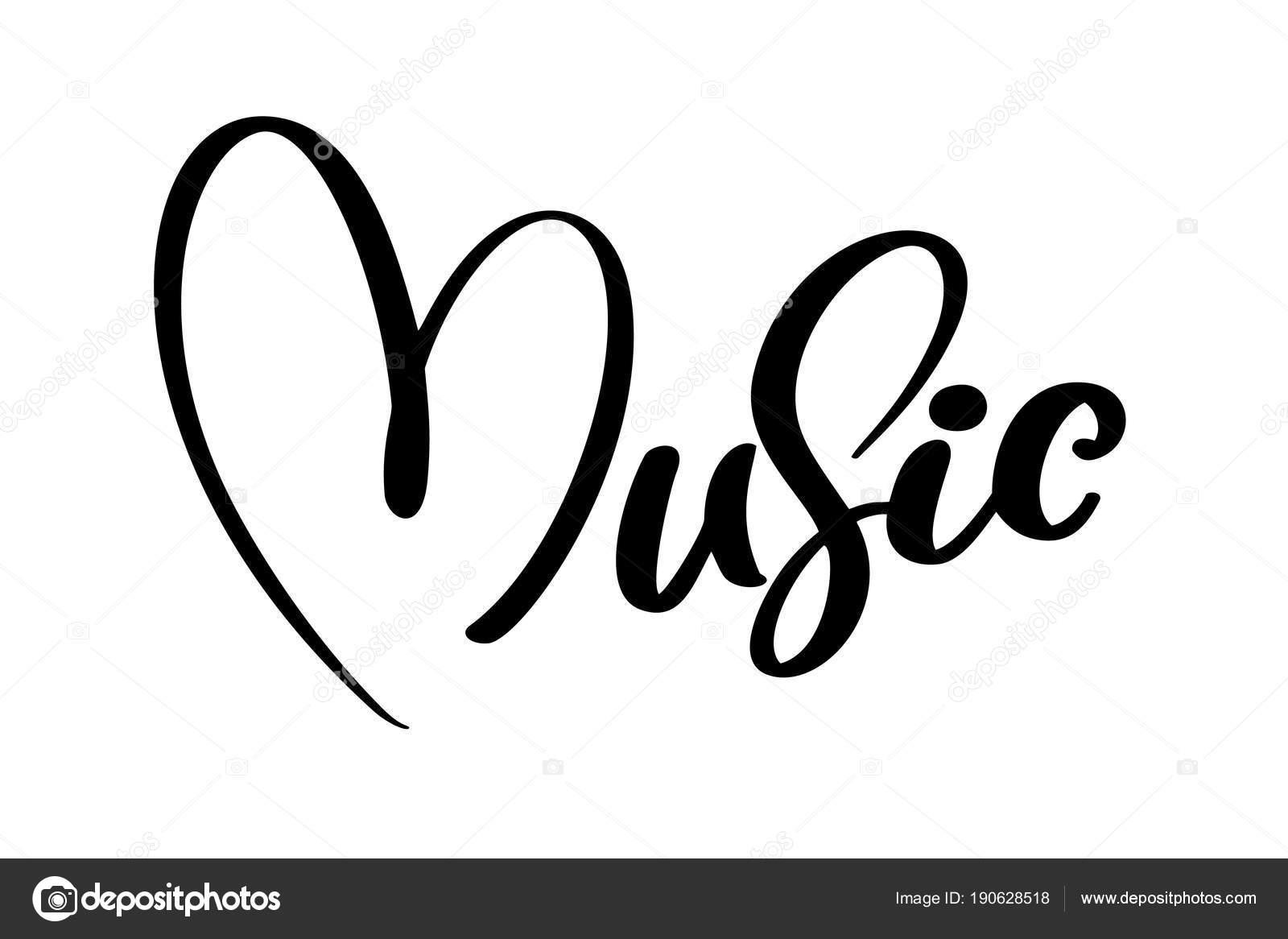 Fondo Signos De Musica Para Dibujar Corazón De Icono De