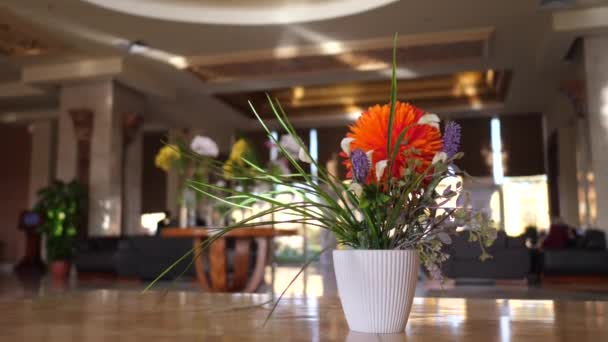 Luxurious decoration lobby of Egypt hotel. Service design and decoration design flower arranging contemporary expensive. Concept of tourism and journey