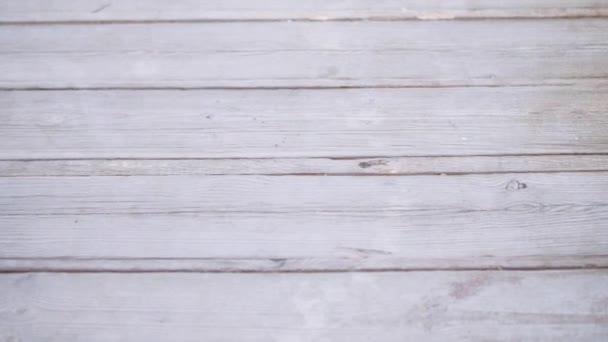 Große weiße Holzplanke Wand Textur Hintergrund mit Platz für Ihren Text. Full-HD-Videobewegung 1920x1080