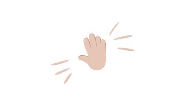 Tapsoló kéz emoji ikon teljes HD animáció. Taps gesztus logó. Gratulációs videofelvétel