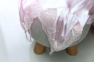 Lace Slip Silk Sleeping Dress stock vector