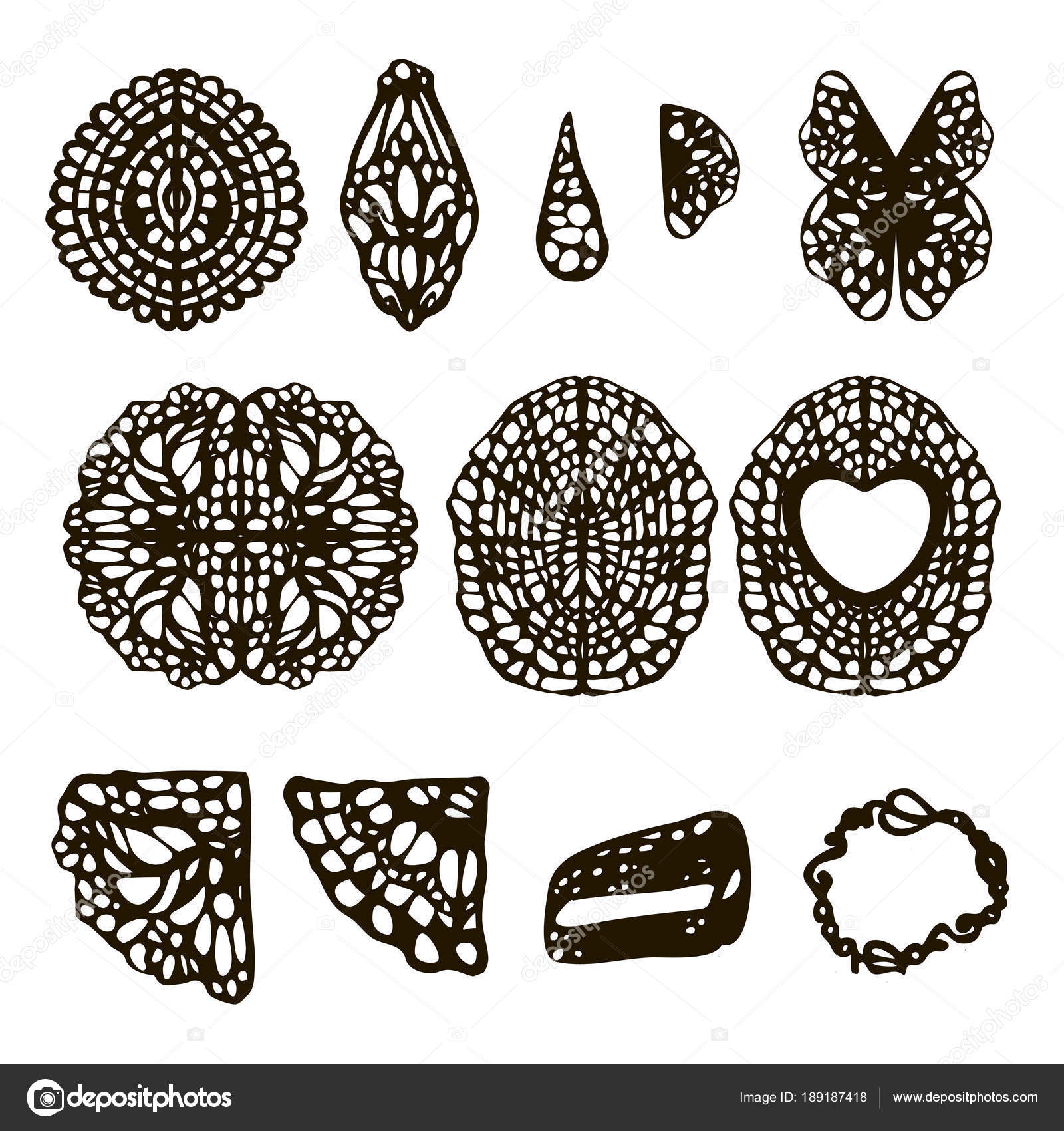 flores, mariposas, torta de tejer patrones ligamento servilletas de ...