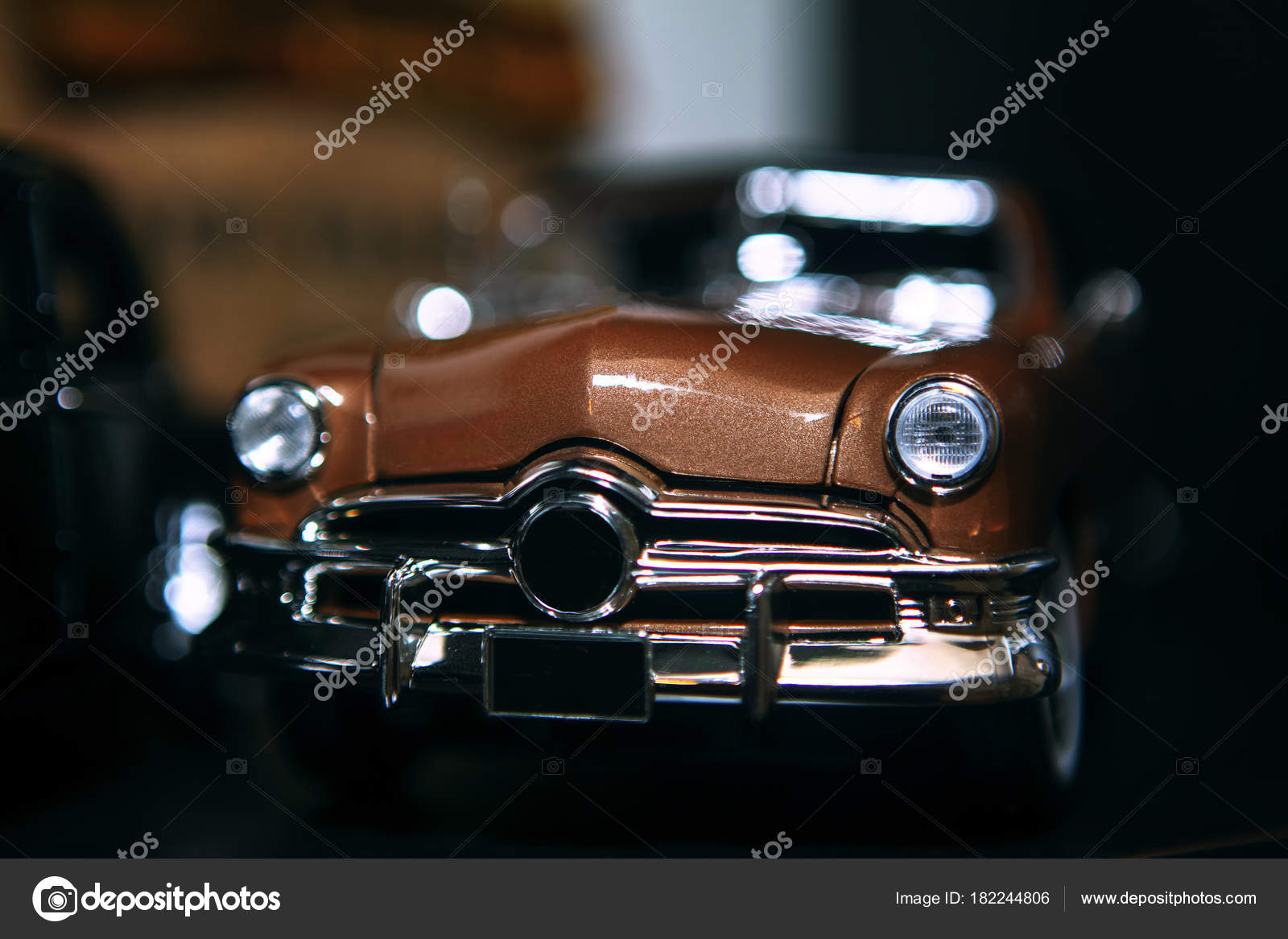Toy Vintage Model Car Headlights Stock Photo C Russieseo 182244806